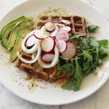 Vegan Falafel Waffles