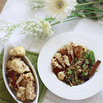 Quinoa & Lentil Salad with Caramelised Cauliflower