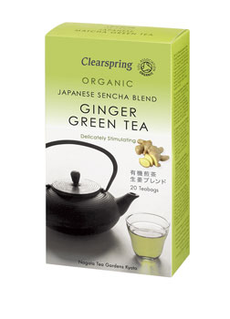 Clearspring Organic Green Ginger Tea 20teabags