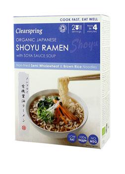 Clearspring Organic Japanese Shoyu Ramen with Soya Sauce Soup 170g