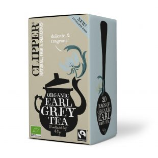 Clipper Organic Earl Grey Tea 20 individual envelopes