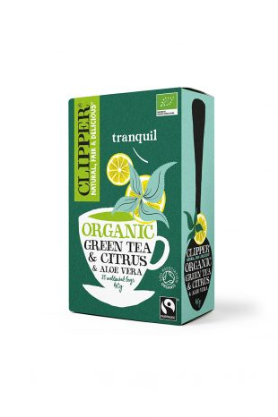 Clipper Organic FT Green Tea & Aloe Vera 20 Teabags