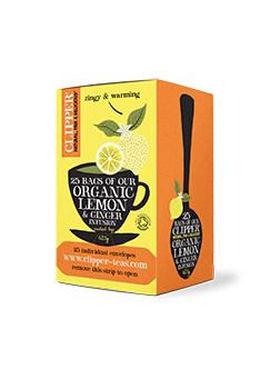 Clipper Organic Lemon & Ginger 25 individual envelopes