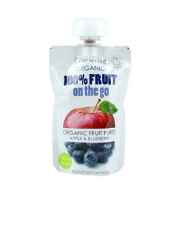Clearspring Organic FRUIT ON-D-GO APPLE/BLUEBERRY 120G