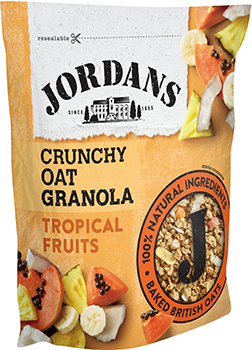 Jordans Crunchy Oats Tropical Fruits 750g