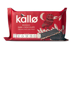 Kallo Dark Chocolate Organic Rice Cakes 90g