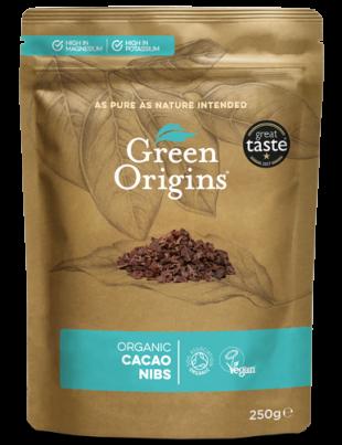 Green Origins Organic Cocoa Nibs 250g