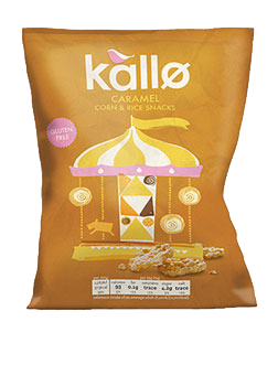Kallo Caramel Corn & Rice Snacks 25g