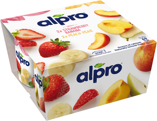 Alpro Strawberry-Banana Peach-Pear PBAY 4x125g