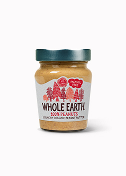 Whole Earth 100% Crunchy Organic Peanut Butter 227g