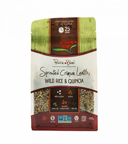 Floating Leaf Sprouted Crimson Lentils, Brown Rice & Quinoa 400g
