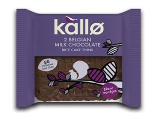 Kallo 2 Belgian Milk Chocolate Organic Rice Cakes 22.5g