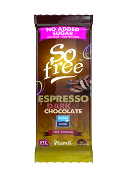 So Free No Added Sugar Dark Espresso Chocolate 35g