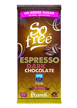 So Free No Added Sugar Dark Espresso Chocolate 80g