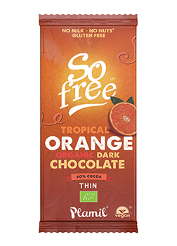 So Free FT & Organic Tropical Orange Dark Chocolate 80g