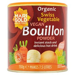 Marigold Swiss Organic Vegetable Bouillon Powder Vegan 150g