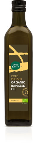 Good Earth Organic Cold Pressed Rapeseed Oil 500ml