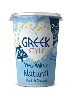 Yeo Valley Organic 0% Fat Greek Style Natural Yogurt 450g