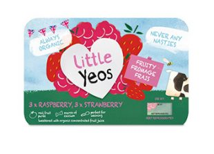 Little Yeos Organic Strawberry/Raspberry Fromage Frais 6 x 45g