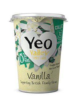 Yeo Valley Organic 0% Fat Vanilla Yogurt 450g