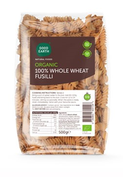 Good Earth Organic Wholewheat Fusilli 500g