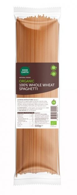 Good Earth Organic Wholewheat Spaghetti 500g