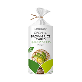 Clearspring Organic Brown Rice Cakes – Quinoa & Chia 120g