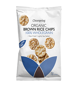 Clearspring Organic Brown Rice Chips – 100% Wholegrain 60g