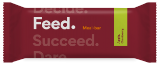 Feed. Apple and Cranberry Bar 100g