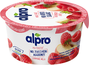 Alpro More Fruit No Added Sugars Raspberry- Apple 135g