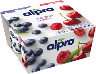 Alpro Blueberry and Cherry PBAY 4x125g