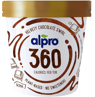 Alpro 360 Velvety Chocolate Swirl Ice Cream 450ml