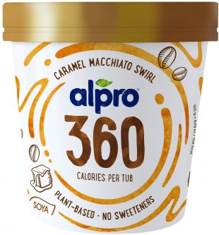 Alpro 360 Caramel Macchiato Swirl Ice Cream 450ml