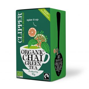 Clipper Organic Green Chai Tea 20 individual envelopes