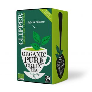 Clipper Organic Pure Green Tea 20 individual envelopes
