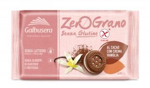 Galbusera ZeroGrano (gluten free) chocolate sandwich biscuits with vanilla cream 160g