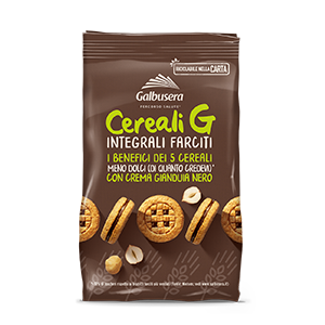 Galbusera Cereali G Wholemeal Biscuits with chocolate spread 250g