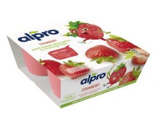 Alpro Kids Strawberry Formage Frais 4x50g