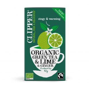 Clipper Green Tea with Lime & Ginger 20 individual envelopes
