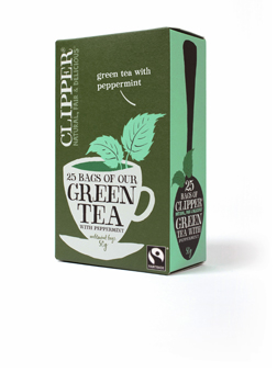 Clipper FT Green Tea with Peppermint 25 Teabags