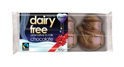 Plamil No Added Sugar Alternative to Milk Chocolate Snowmen Tray 40g