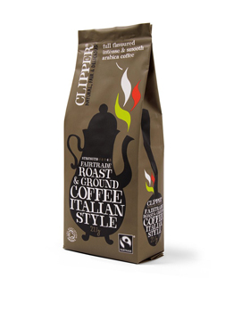 Clipper Organic Italian Style Roast Coffee 227g