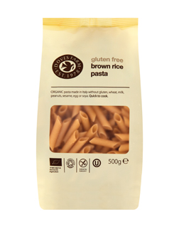 Doves Farm Organic & GF Brown Rice Penne 500g