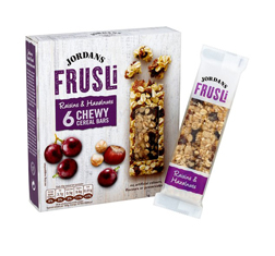 Jordans Frusli Raisin & Hazelnut Bar 30g