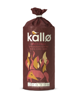 Kallo Spicy Chilli Wholegrain Low Fat Rice & Corn Cakes 124g