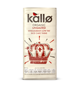 Kallo Organic Unsalted Thin Rice Cakes 130g