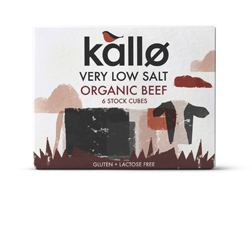 Kallo Stock Cubes Organic Beef Very Low Salt 66g