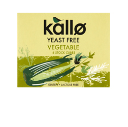 Kallo Stock Cubes Vegetable Yeast Free 66g