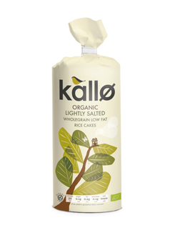 Kallo Organic Slightly Salted Thick Rice Cakes 130g