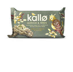 Kallo Quinoa & Seeds Multigrain Cakes with Sunflower, Sesame & Pumpkin Seeds 55g